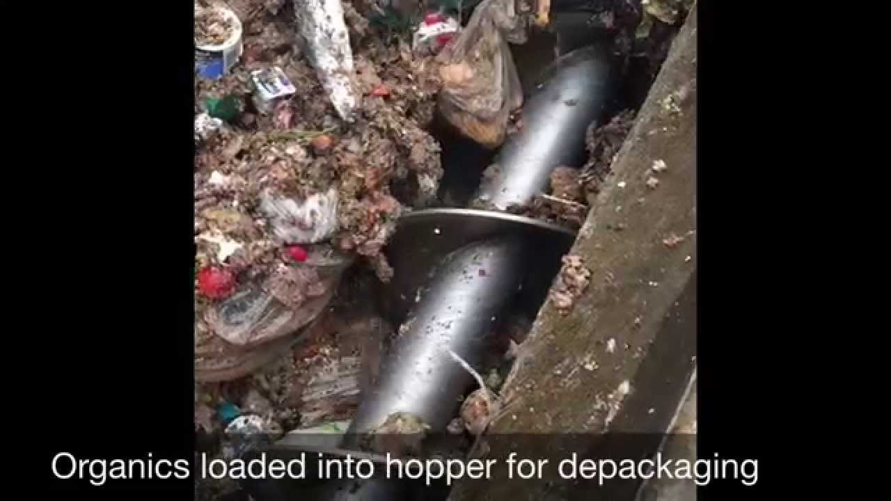 Depackaging Food Waste For Anaerobic Digestion Youtube