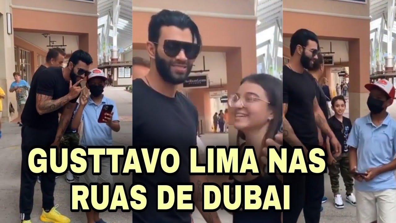 Gusttavo Lima nas ruas de Dubai com fãs  #GusttavoLima #OEmbaixador