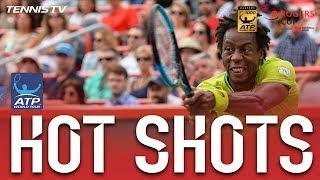 Hot Shot: Monfils Scrambles For Match Point Montreal 2017