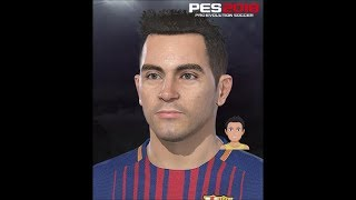 Xavi Hernandez PES 2018 Face Build