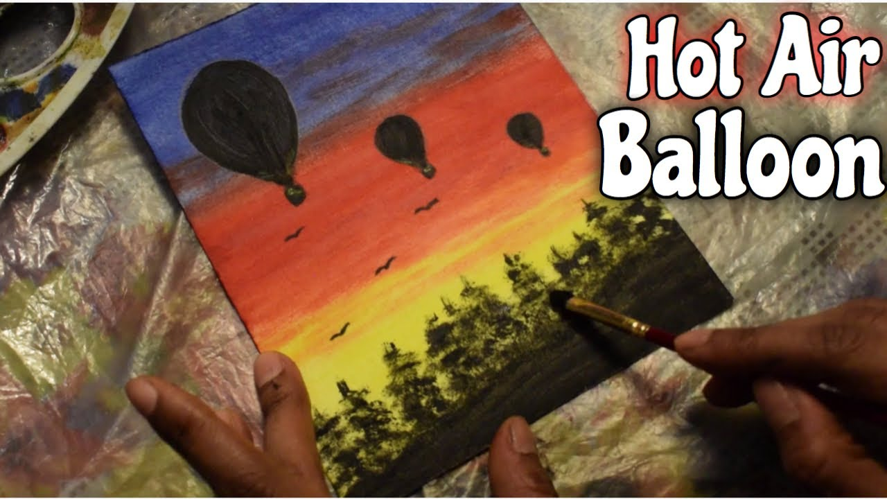 Easy Hot Air Balloon Painting for Beginners | Painting ...
