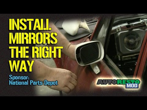 How To Install A Classic Car Mirror Using Correct