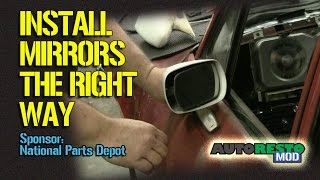 How To Install a Classic Car Mirror Using Correct Fasteners Episode 197 Autorestomod