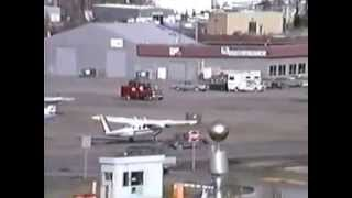 Anchorage International Airport.  spring of 1988