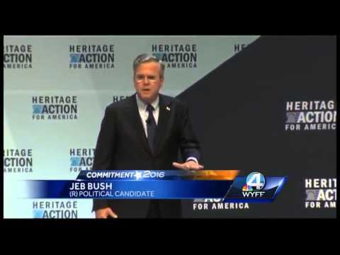 Jeb Bush talks tax plan at Heritage Action Forum