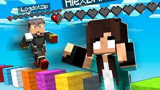 noob Girl tries HALF HEART Minecraft Challenge...
