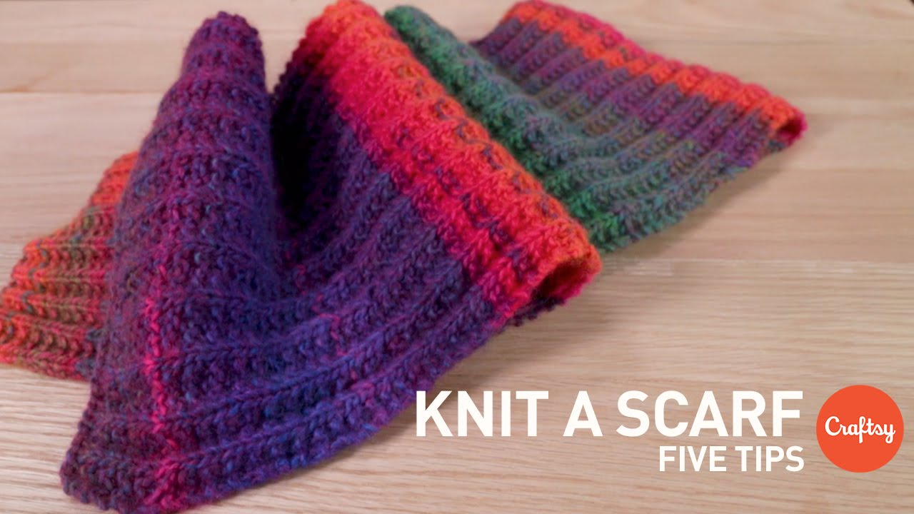 Knitting A Scarf Tutorial : How to knit a scarf tips for beginners craftsy