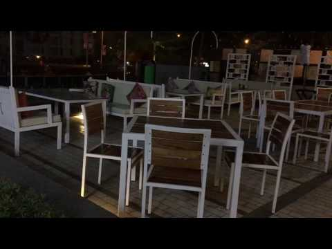 Outdoor furniture IDEAS for restaurant -iron & hint of wood . Rightwood furniture online