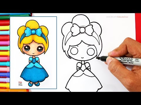Como Dibujar Una Princesa Disney Kawaii Cenicienta How To Draw