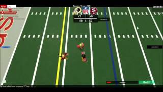 Roblox 🏈:1rst and 10. He runs. TD 49ers.
