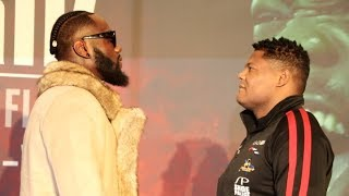 WHO LOOKS AWAY FIRST? - DEONTAY WILDER v LUIS ORTIZ (HEAD-TO-HEAD) @ MGM GRAND AHEAD OF HUGE REMATCH