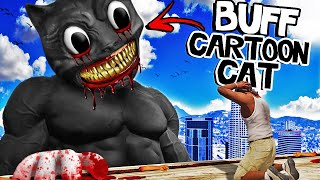 CARTOON CAT Becomes BUFF In GTA 5 (Scary)