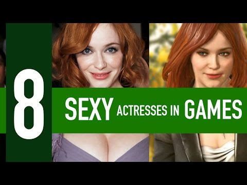8 sexy actresses in games