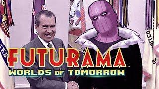 Richard Nixon is BARON ZEMO (Futurama: Worlds of Tomorrow)