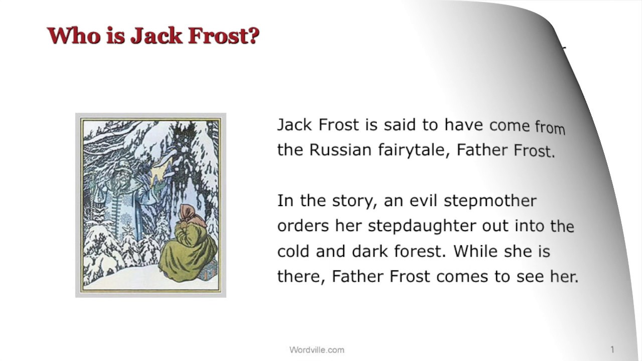 Who is jack frost a wordville reading comprehension story youtube who is jack frost a wordville reading comprehension story robcynllc Image collections