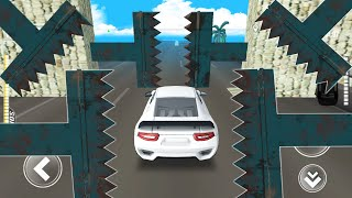 DEADLY Race #5 Speed WHITE Car Bumps Challenge 3D Games - Car Games BamBi Tv -  Android GamePlay
