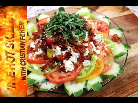Tomato Bacon And Feta Cheese Salad Recipe | The Hot Skillet With Chef Cristian Feher