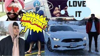 FRIENDS & FAMILY REACT TO MY NEW CAR MUSTANG (SURPRISE)