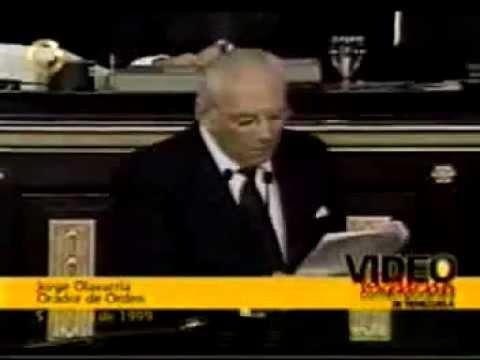 Discurso de Jorge Olavarría en el Congreso 5 de Julio de 1999