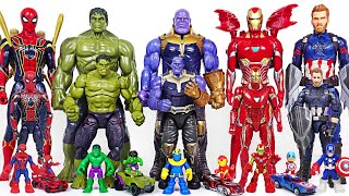Cover images Marvel Infinity War Avengers bigger and smaller transform! Hulk, Thanos, Spider Man! | DuDuPopTOY