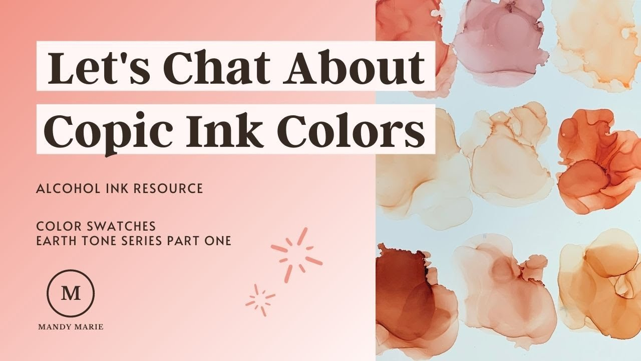 53 Stunning Copic Ink Refill Color Swatches: Earth Tone Series