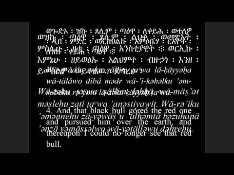 Ge'ez: Book of Enoch, Chapter 85 : 1 - 7