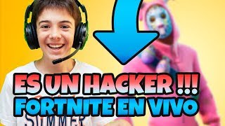 WHO COME THE HACKERS OF FORTNITE ☠️ HUGO MARKER LIVE 🔴