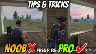 FREEFIRE- BEST TIPS AND TRICKS TO BE A PRO IN FREEFIRE ||2019|| ||FREEFIRE BATTELGROUND||