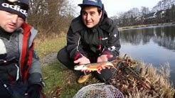 XXL Forellen mit Big L und Olek, Forellenteich angeln mit Blinker, Saibling Köder, Kelo Fishing Fore