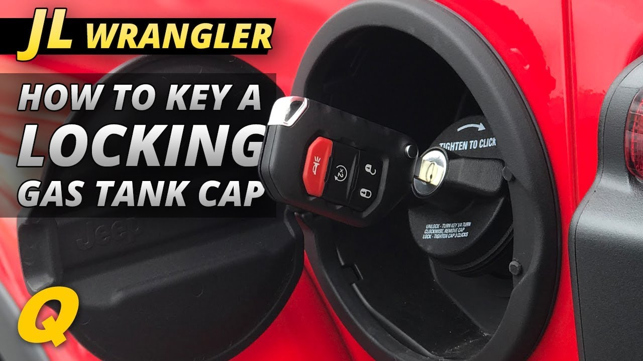How To Key The Lock Cylinder For A Jeep Wrangler Jl Mopar Locking Gas Cap Youtube