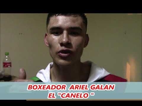 BOXEADOR ARIEL GALAN EL CANELO