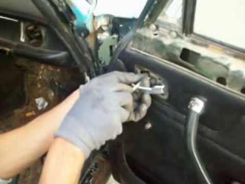 Trim Front Door Removal Of Mercedes W115 1973 Youtube