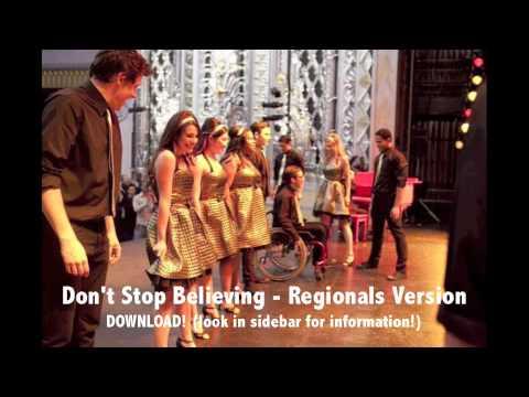 DON'T STOP BELIEVING - GLEE DOWNLOAD (REGIONALS VERSION)