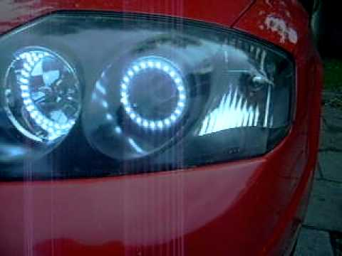 Hyundai Coupe Gk 02 Quot Black Headlights Smd Led Ring Youtube