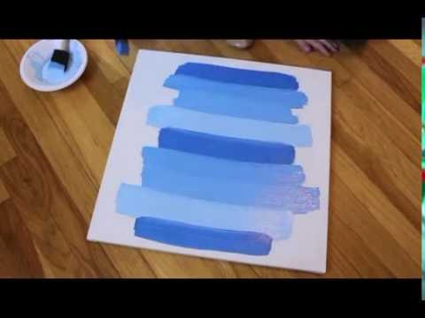 Diy Ombre Painted Canvas How To Create Ombre Blue Paint