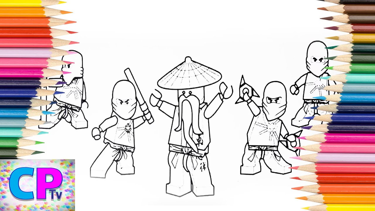 Lego Ninjago Coloring Pages Red Blue How To Color All Lego Ninjago Coloring Pages Kids Tv