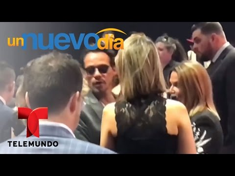 ¡Marc Anthony buscó a JLo durante toda la noche! | Un Nuevo Día | Telemundo
