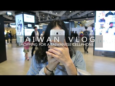 Shopping For A Taiwanese Cellphone | TAIPEI, TAIWAN VLOG