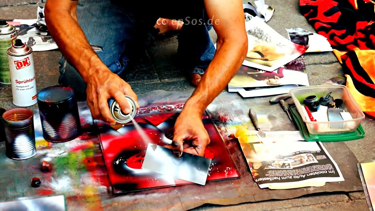 Free Spray Painting Lesson for Art. - YouTube