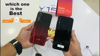 Sony Xperia - Vivo Y15 Vs Redmi Note 7 Pro small comparison .camera.finger print. and face unblock