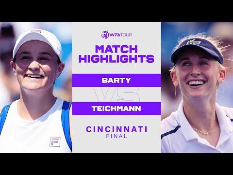 Ashleigh Barty vs. Jil Teichmann | 2021 Cincinnati Final | WTA Match Highlights