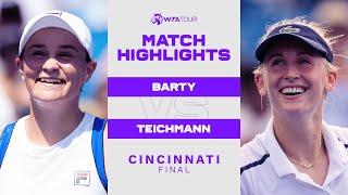 Ashleigh Barty vs. Jil Teichmann | 2021 Cincinnati Final