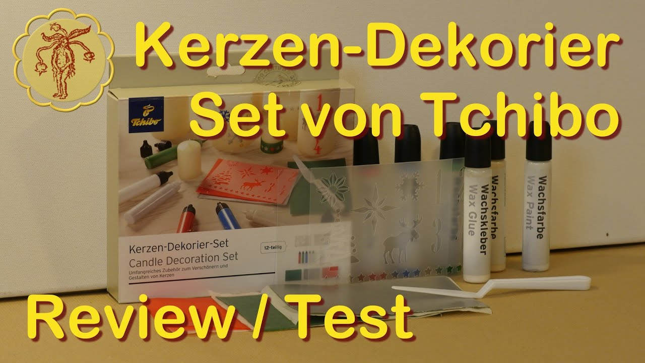 review test kerzen dekorier set von tchibo youtube. Black Bedroom Furniture Sets. Home Design Ideas