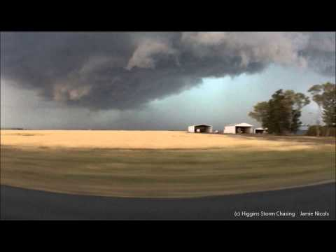Supercell Crosses The Darling Downs, QLD, Australia 17-11-2012