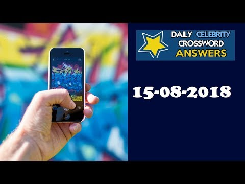 Daily Celebrity Crossword Puzzle Answers August 15 2018