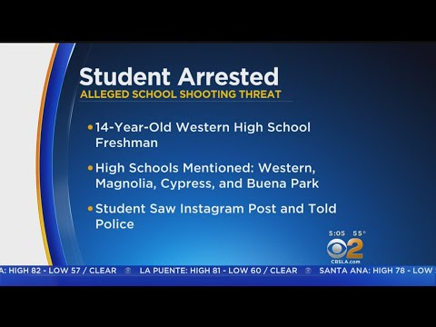 Anaheim Student Arrested For Threat Posted On Instagram