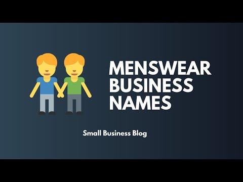 Creative Menswear Shop Names