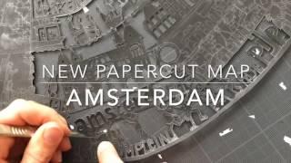 Amsterdam Paper Cut Map | Famille Summerbelle