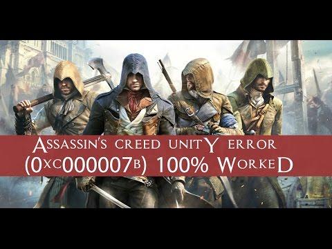 Assassin s creed unity ошибка 0xc000007b