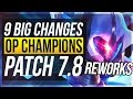 NEW UDYR REWORK 9 BIG CHANGES NEW OP CHAMPS Patch 7.8 League of Legends